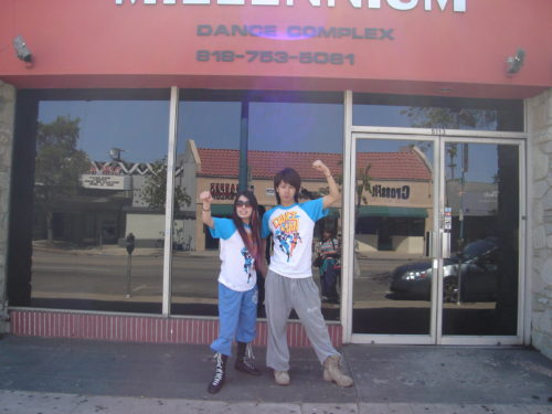 ロスのダンススタジオの前